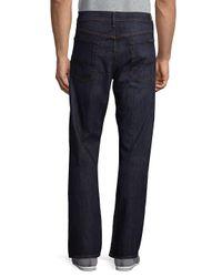 7 For All Mankind Blue Austyn Straight-leg Jeans for men