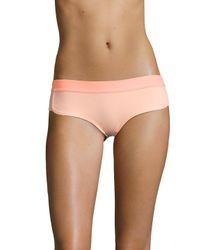 Adidas By Stella McCartney - Pink Solid Bikini Brief - Lyst
