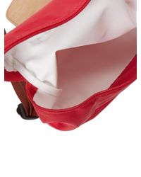 Longchamp Red Le Pliage Backpack
