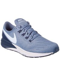 Nike Blue Air Zoom Structure 22 Mesh Sneaker for men