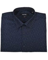 Nine West Blue Slim Fit Dress Shirt for men