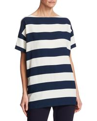 Dolce & Gabbana Blue Striped Boxy T-shirt