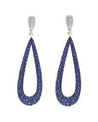Effy - Blue Fine Jewelry 14k 1.55 Ct. Tw. Diamond & Sapphire Drop Earrings - Lyst