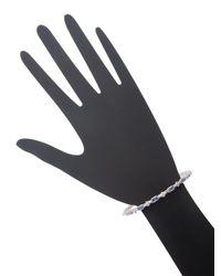 Armenta - Metallic Sterling Silver Diamond And Gemstone Multi-cravelli Bangle Bracelet - Lyst