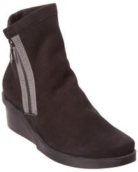 Arche Black Reina Wedge Ankle Boot