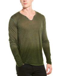 Zadig & Voltaire Green Monastir Linen Top for men