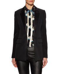 Givenchy Black One-button Contrast Blazer