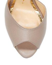 Charlotte Olympia Gray Eugenie Platform Sandal