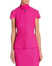 St. John Pink Short Sleeve Knit Jacket