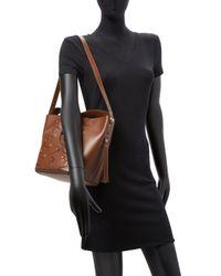 Furla Brown Vittoria Glam S Drawstring Bucket Bag
