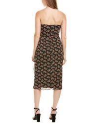 Anna Sui Black Floral Reef Sheath Dress