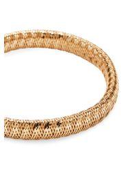 Roberto Coin Metallic Primavera 18k Gold & Diamond Flex Oval Bracelet