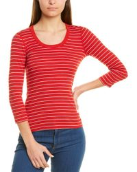 Three Dots Red Playgirl T-shirt