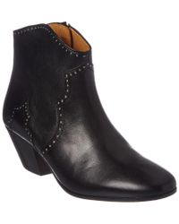 Isabel Marant Black Dicker Leather Ankle Boot