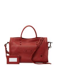 Balenciaga Red Leather Satchel