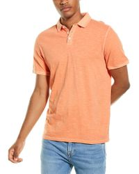 Thread & Cloth Orange Slub Polo Shirt for men