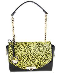 Versace Yellow Leather Top Handle Bag