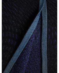 M Missoni Black Textured Colorblock Coat