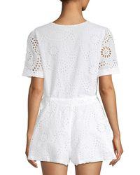 Tularosa White Sandra Crochet Lace Romper