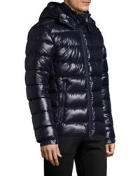 Save The Duck | Blue Removable Hood Shiny Puffer for Men | Lyst