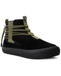 Hybrid Black Green Label Renegade Suede Sneaker for men