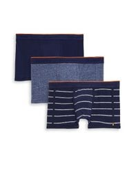 Superdry Blue Three-pack Logo Boxer Briefs for men
