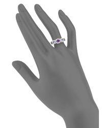 Effy Purple Amethyst, Tanzanite, Diamond & 14k White Gold Ring