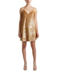 Kendall + Kylie Metallic Sequin Mini Dress