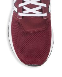 New Balance Purple Mesh Paneled Sneakers for men