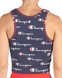 Champion Blue Crop Cami Top