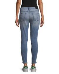 Hudson Blue Nico Cotton Cropped Skinny Jeans