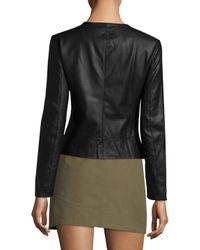 Armani Exchange Black Solid Darting Jacket