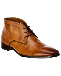 Marco Vittorio Brown Leather Chukka Boot for men