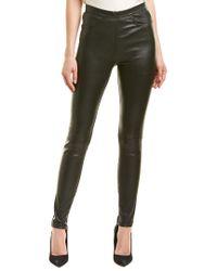 Maje Black Zippered Leather Legging