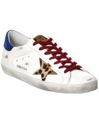 Golden Goose Deluxe Brand White Superstar Leather Sneaker for men