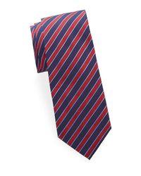 Brioni Blue Stripe Silk Tie for men