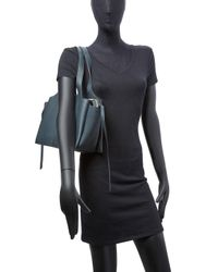 Céline - Blue Tri-fold Medium Leather Tote - Lyst