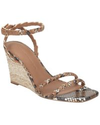 Sigerson Morrison Brown Justice Wedge Leather Sandal