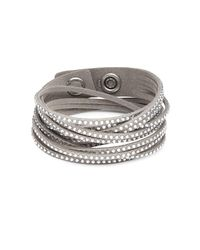 Swarovski - Gray Slake Crystal Studded Bracelet - Lyst
