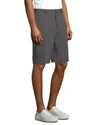 Saks Fifth Avenue Gray Fitted Shorts for men