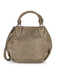 Liebeskind Berlin - Gray Textured Leather Shoulder Bag - Lyst