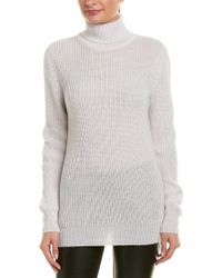 IRO Gray Turtleneck Alpaca & Wool-blend Sweater