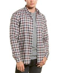 Theory Multicolor Betton Check Woven Shirt for men