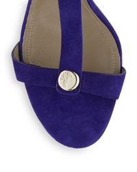 Versace Black Strappy Suede Sandals