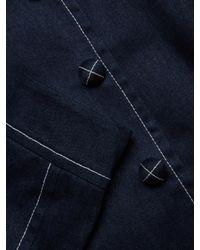 Carolina Herrera Blue Cropped Denim Jacket