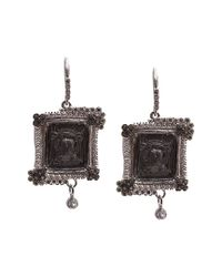 Armenta Metallic New World Silver 2.44 Ct. Tw. Diamond & Sapphire Earrings