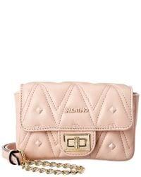 Valentino By Mario Valentino Pink Papillon D Sauvage Studs Leather Crossbody