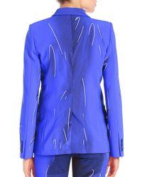 Alberta Ferretti Blue Tailored Two-button Jacket