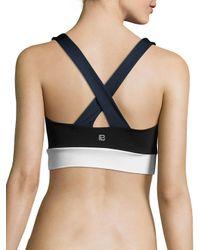 Body Language Black Zara Solid Crisscross Sports Bra