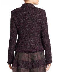 ESCADA Black Boucle Tweed Jacket